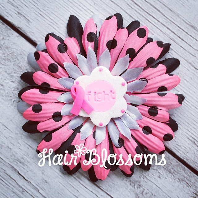 Fight Like a Girl Hair Blossom!  Currently available on our website :) www.HairBlossoms.com #HairBlossoms
