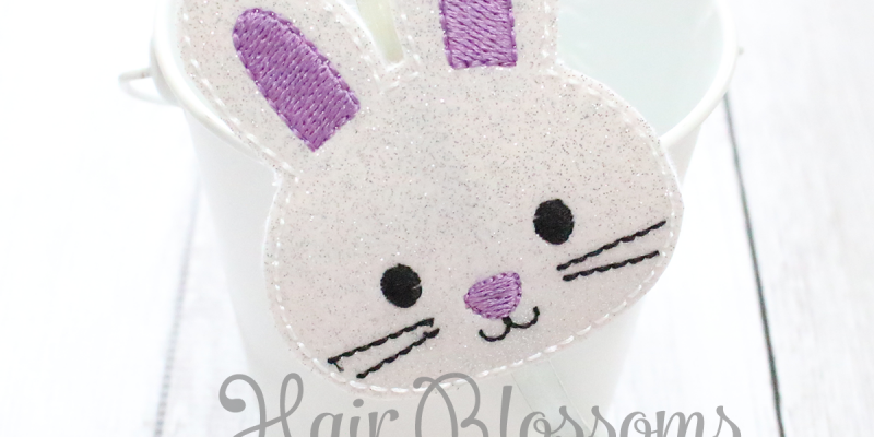 Purple Easter Bunny Blossom Band